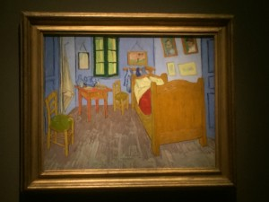 The final painting of The Bedroom by Vincent Van Gogh