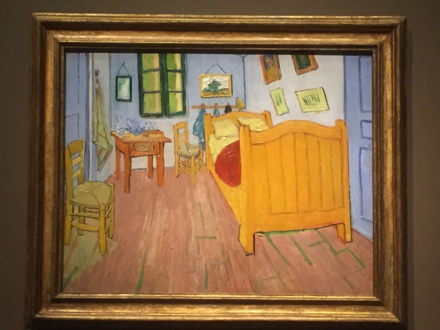The first painting of The Bedroom by Vincent van Gogh